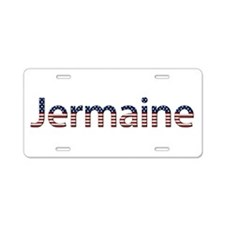 Jermaine Stars and Stripes Aluminum License Plate