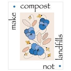 Make Compost, Not Landfills Canvas Art