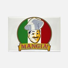 Mangia! Rectangle Magnet