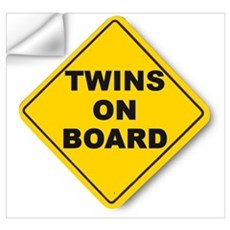 Twins on board Wall Decal