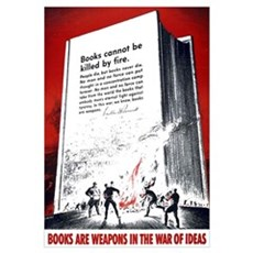 Books Are Weapons Framed Print