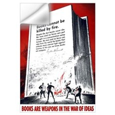 Books Are Weapons Wall Decal