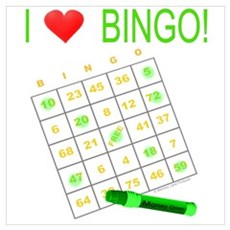Bingo Love - Green Framed Print