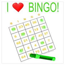 Bingo Love - Green Poster