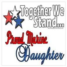 Proud Marine Daughter Poster