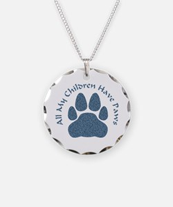 All My Children Have Paws 2 Necklace