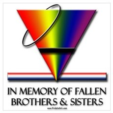 Fallen Pride - Support Our Gay Troops Small Framed Poster