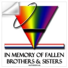 Fallen Pride - Support Our Gay Troops Small Framed Wall Decal
