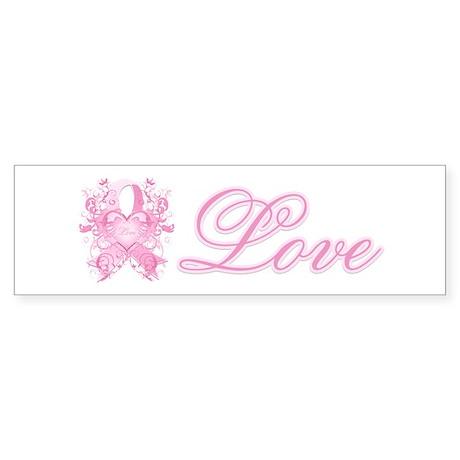 Pink Love Swirls Sticker (Bumper)