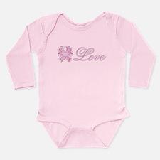 Pink Love Swirls Long Sleeve Infant Bodysuit