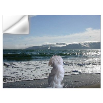 A Maltese Dog store Wall Decal