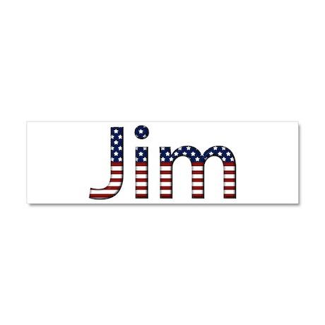 Jim Stars and Stripes 10x3 Car Magnet
