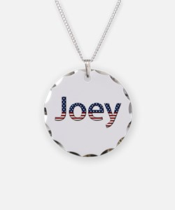 Joey Stars and Stripes Necklace Circle Charm