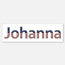 Johanna Stars and Stripes Bumper Bumper Bumper Sticker
