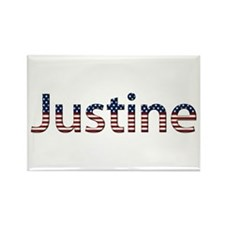 Justine Stars and Stripes Rectangle Magnet