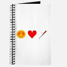 Peace Love Baseball Journal