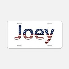 Joey Stars and Stripes Aluminum License Plate