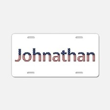 Johnathan Stars and Stripes Aluminum License Plate