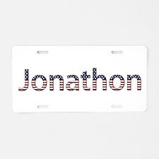 Jonathon Stars and Stripes Aluminum License Plate