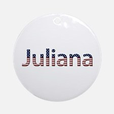 Juliana Stars and Stripes Round Ornament