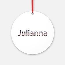 Julianna Stars and Stripes Round Ornament