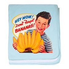 Don't Forget Bananas baby blanket