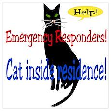Single Cat Alert Poster
