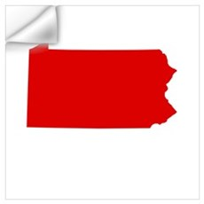 Red Pennsylvania Wall Decal