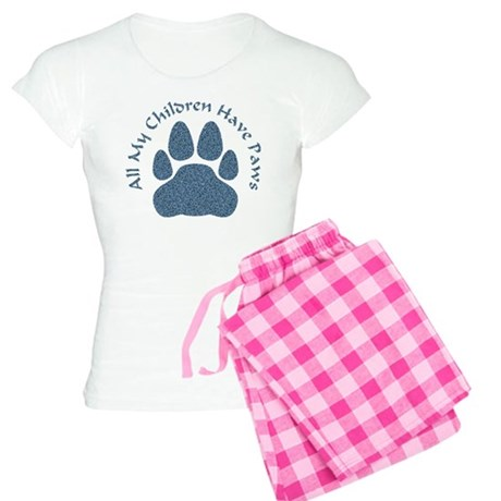 All My Children Have Paws 2 Women's Light Pajamas
