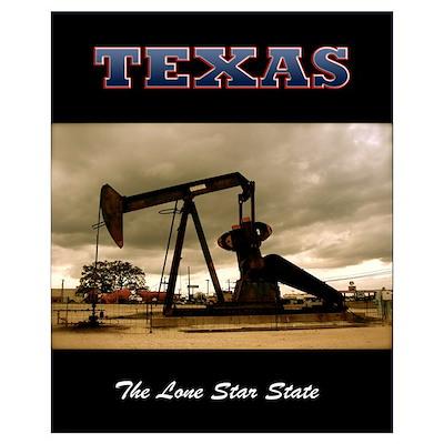Texas Pumpjack Poster
