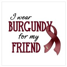 Wear Burgundy - Friend Framed Print