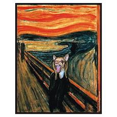Chihuahua Scream Munch Poster