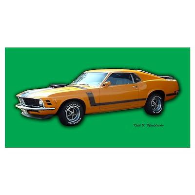 Boss 302 Mustang Vintage Stre Poster