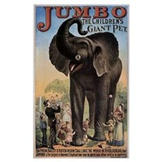 Vintage Circus Elephant Poster