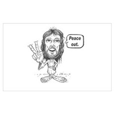Peace out Jesus Framed Print