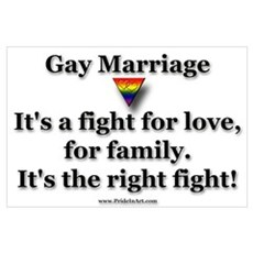 The Right Fight - Gay Rights Poster