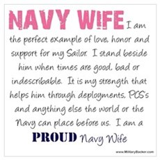 I Am...a Navy Wife Poster