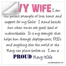 I Am...a Navy Wife Wall Decal