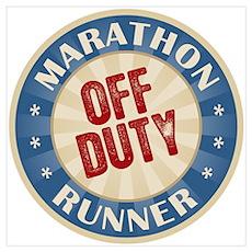 Off Duty Marathon Runner Poster