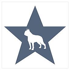 Boston Terrier Star Poster