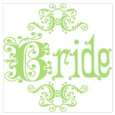 Green Fancy Bride Poster