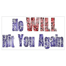 He Will Hit You Again Poster