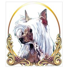 Chinese Crested Christmas/Holiday Canvas Art