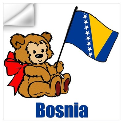 Bosnia Teddy Bear Wall Decal
