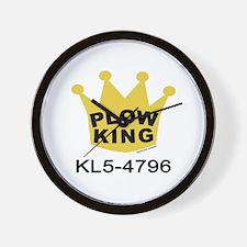 Plow King Wall Clock
