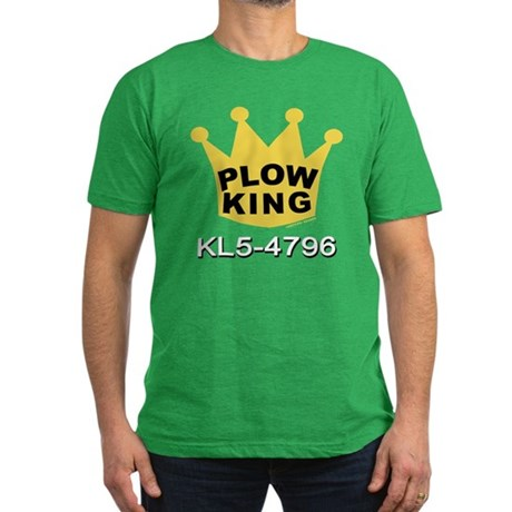 Plow King Men's Fitted T-Shirt (dark)