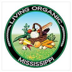 Living Organic Mississippi Poster