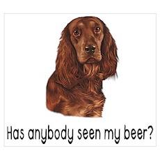 Lost beer dog Poster