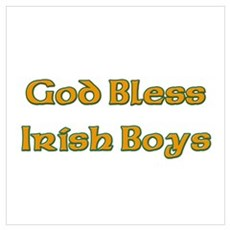 God Bless Irish Boys Poster