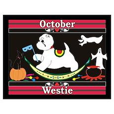 Westie Calendar dog Poster